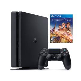 PlayStation 4 Slim 1 TB, Bundle with 1 Game - Black