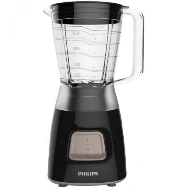 Philips 1.25 Liter Daily Collection Blender ,Plastic - Black